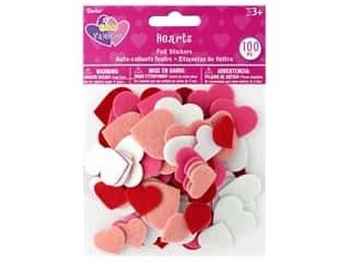 craft & hobbies: Darice Felties Sticker Hearts 100 pc