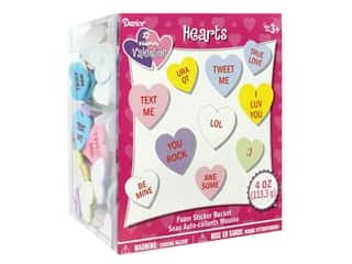 craft & hobbies: Darice Foamies Stickers Candy Hearts 4 oz