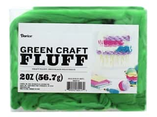 yarn & needlework: Darice Craft Fluff 2 oz. Green