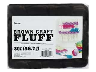 craft & hobbies: Darice Craft Fluff 2 oz. Brown