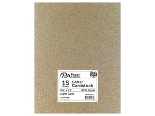 Paper Accents Glitter Cardstock 8 1/2 in. x 11 in. #G16 Light Gold