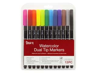 craft & hobbies: Darice Studio 71 Marker Watercolor 12 pc
