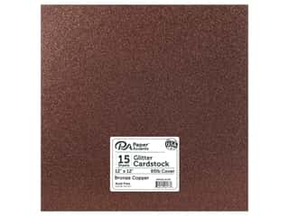 Paper Accents Glitter Cardstock 12 x 12 in. #G60 Bronze Copper 15 pc.