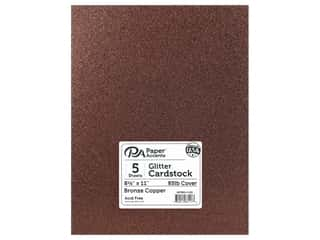 Paper Accents Glitter Cardstock 8 1/2 x 11 in. Bronze Copper 5 pc.