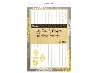 Darice My Family Recipes Recipe Cards 40 pc. Yellow & Grey