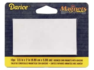 Darice Magnet Sheet Adhesive Back 2 in. x 3.5 in. 10 pc