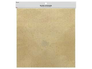 gems: Darice Stick On Gems Bling Resin 10 in. x 10 in. Gold