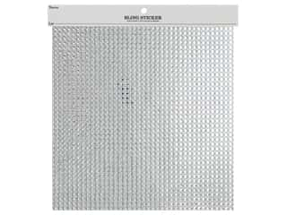 gems: Darice Stick On Gems Bling 10 in. x 10 in. Clear