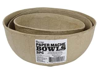 craft & hobbies: Darice Paper Mache Nested Bowls 3 pc