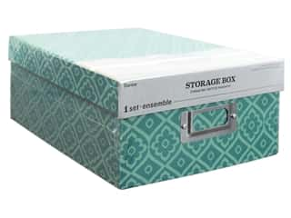 books & patterns: Darice Organizer Photo Box Damask Blue