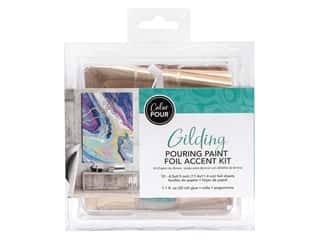 craft & hobbies: American Crafts Color Pour Pouring Paint Foil Accent Kit - Gilding