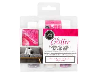 American Crafts Color Pour Glitter Mix In Kit - Berry Rush