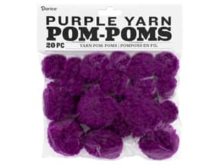 yarn: Darice Pom Poms Yarn 1 in. To 1.5 in. Purple 20 pc