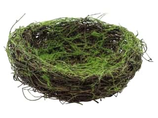 Darice Bird Nest with Moss Flock 6 in.