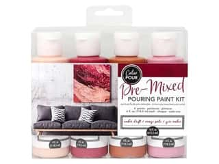 American Crafts Color Pour Pre Mixed Pouring Paint Kit - Amber Drift