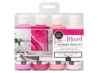 craft & hobbies: American Crafts Color Pour Pre Mixed Pouring Paint Kit - Berry Rush