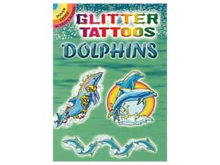 Dover Publications Little Glitter Dolphins Tattoos Book