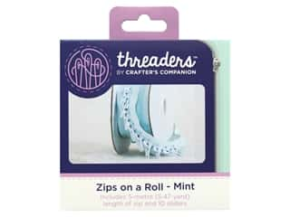 Crafter's Companion Threaders Zips On A Roll Mint