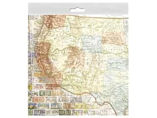 Paper House 12 in. x 12 in. Paper US Travel Map West (25 sheets)