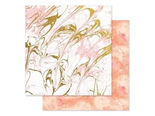 Paper House Paper 12 in. x 12 in. Marble Pink (15 pieces)