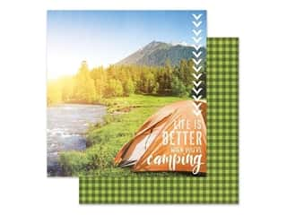 Paper House Paper 12 in. x 12 in. Better When Camping (15 pieces)