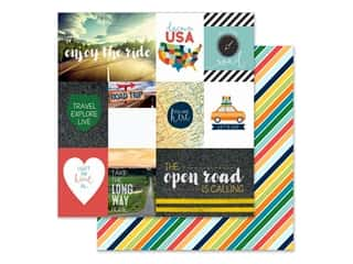 Paper House Paper 12 in. x 12 in. Tags Discover USA (15 pieces)