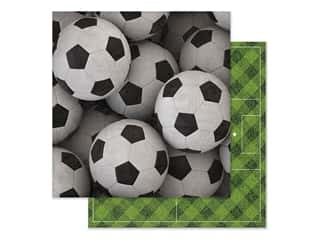 scrapbooking & paper crafts: Paper House Paper 12 in. x 12 in. Soccer Balls (15 pieces)