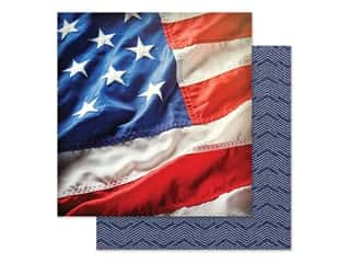 scrapbooking & paper crafts: Paper House Paper 12 in. x 12 in. Stars & Stripes (15 pieces)