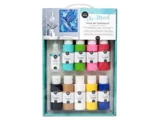 Acrylic Paint Blue: American Crafts Color Pour Pre-Mixed Pour Art Starter Kit