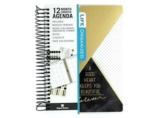 Paper House Collection Life Organized Mini Planner 12 Month Geo Black/Gold