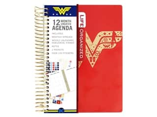 scrapbooking & paper crafts: Paper House Collection Life Organized Mini Planner 12 Month DC Comics Wonder Woman