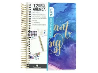 scrapbooking & paper crafts: Paper House Collection Life Organized Mini Planner 12 Month Dream Big