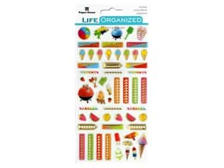 Paper House Collection Life Organized Epoxy Sticker Summer Fun