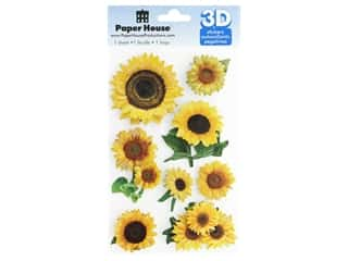 Paper House 3D Stickers - Sunflowers