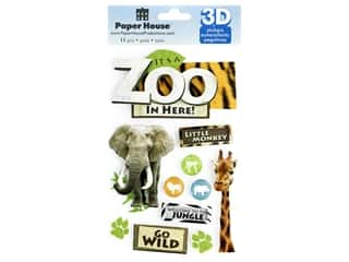 Paper House Sticker 3D Zoo
