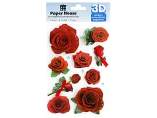 Paper House Sticker 3D Roses