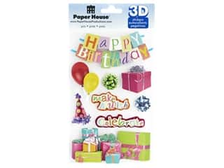 scrapbooking & paper crafts: Paper House 3D Stickers - Happy Birthday