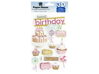 scrapbooking & paper crafts: Paper House 3D Stickers - Sweet Birthday Girl