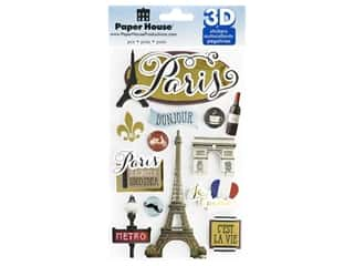 Paper House Sticker 3D Discover Paris