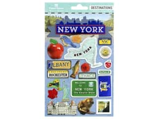 bird sticker: Paper House Sticker 3D Travel New York