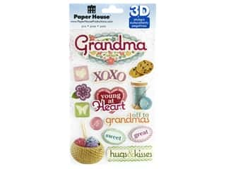 Paper House Sticker 3D Grandma