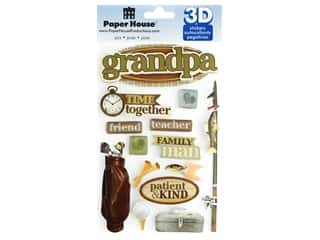 Paper House Sticker 3D Grandpa