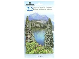 Paper House Sticker 3D Mountain Lake