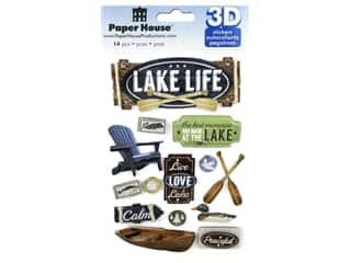 stickers: Paper House Sticker 3D Lake Life