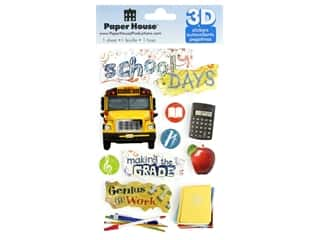 stickers: Paper House Sticker 3D School Days