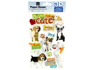Paper House 3D Stickers - Dog Gone Cute