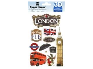 Paper House 3D Stickers - London