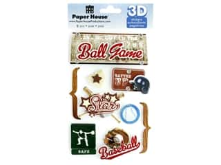 scrapbooking & paper crafts: Paper House 3D Stickers - Baseball