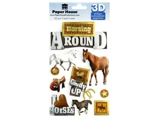 Paper House Sticker 3D Horsing Around