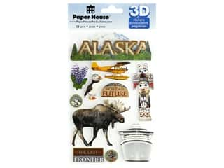 Paper House Sticker 3D Alaska